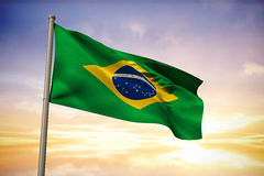 Composite image of brazil national flag Royalty Free Stock Photography