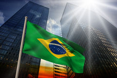 Composite image of brazil national flag Royalty Free Stock Photo