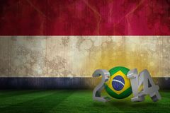 Composite image of brazil world cup 2014 Stock Images
