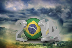 Composite image of brazil world cup 2014 Stock Photo