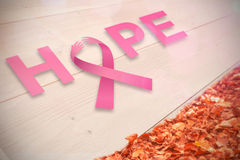 Composite image of breast cancer awareness message Stock Images