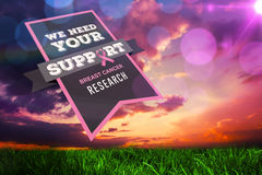 Composite image of breast cancer awareness message Stock Photo