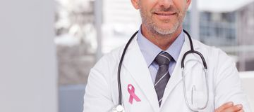 Composite image of breast cancer awareness message royalty free stock image