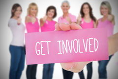 Composite image for breast cancer awareness Stock Images