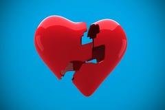 Composite image of broken heart Stock Photography