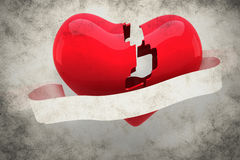A Composite image of broken heart Stock Photography