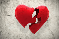 A Composite image of broken heart Stock Image