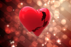 Composite image of broken heart Royalty Free Stock Image
