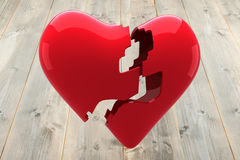 Composite image of broken heart Stock Image