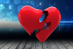 Composite image of broken heart Royalty Free Stock Photography