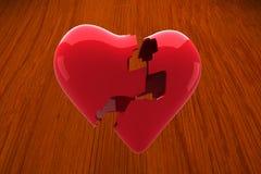 Composite image of broken heart Stock Photo