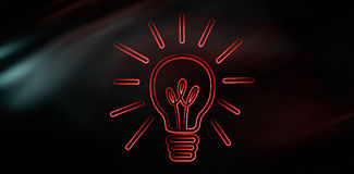 Composite image of bulb Stock Image