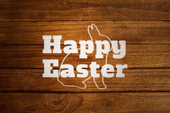 Composite image of bunny outline Stock Photo