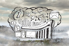 Composite image of business brainstorm doodle Royalty Free Stock Photography