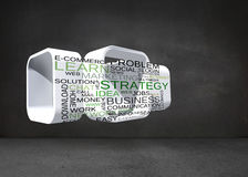 Composite image of business buzzwords on abstract screen Stock Images