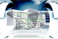Composite image of business buzzwords on abstract screen Royalty Free Stock Image