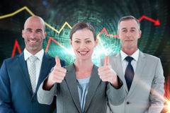 Composite image of business colleagues smiling at camera Stock Photography