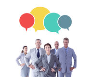 Composite image of business colleagues standing in a row Royalty Free Stock Image