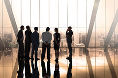 Composite image of business colleagues talking Stock Photography