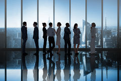 Composite image of business colleagues talking Stock Image