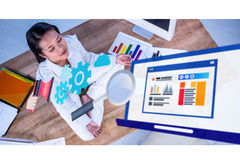 Composite image of business graphics Stock Photography