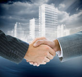 Composite image of business handshake Royalty Free Stock Image