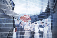 Composite image of business handshake Stock Images
