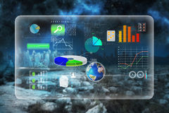 Composite image of business interface Royalty Free Stock Photos