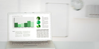 Composite image of business interface with graphs and data Stock Photos
