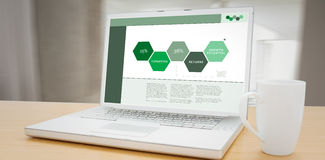 Composite image of business interface with graphs and data Royalty Free Stock Photography