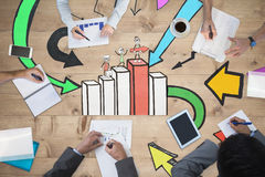 Composite image of business meeting Royalty Free Stock Photography