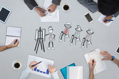 Composite image of business meeting Royalty Free Stock Photo