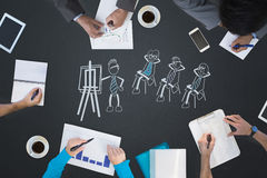 Composite image of business meeting Royalty Free Stock Image