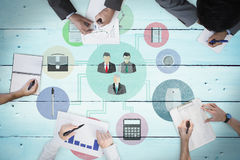 Composite image of business meeting Stock Photo