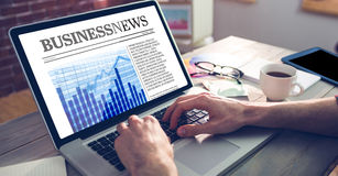 Composite image of business newspaper Royalty Free Stock Photos