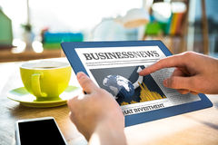 Composite image of business newspaper Stock Images