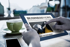 Composite image of business newspaper Royalty Free Stock Photo