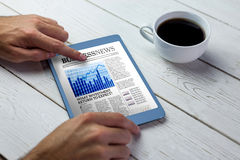 Composite image of business newspaper Royalty Free Stock Images