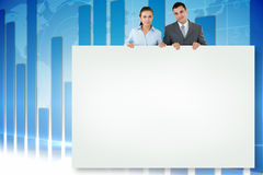 Composite image of business partners showing card Stock Photography
