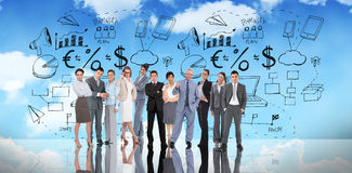 Composite image of business people Stock Images