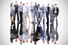 Composite image of business people Royalty Free Stock Photo