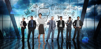 Composite image of business people Royalty Free Stock Photography