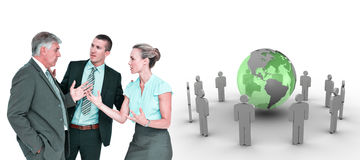 Composite image of business people having a disagreement Royalty Free Stock Photo