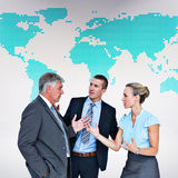 Composite image of business people having a disagreement Royalty Free Stock Images