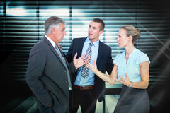 Composite image of business people having a disagreement Royalty Free Stock Photos