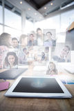 Composite image of business people having a meeting Stock Images