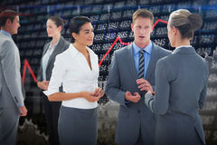 Composite image of business people interacting Royalty Free Stock Image