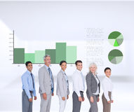 Composite image of business people looking at camera Royalty Free Stock Photography