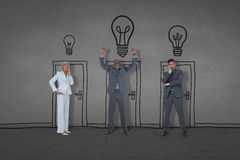 Composite image of business people standing Stock Images