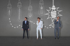 Composite image of business people standing Stock Photo